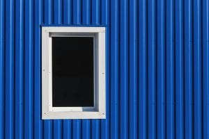 Window In Metal Siding Wall
