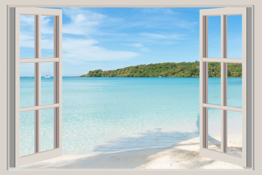 Summer Travel Vacation And Holiday Concept The Open Window Hi Tech Windows Amp Siding 800